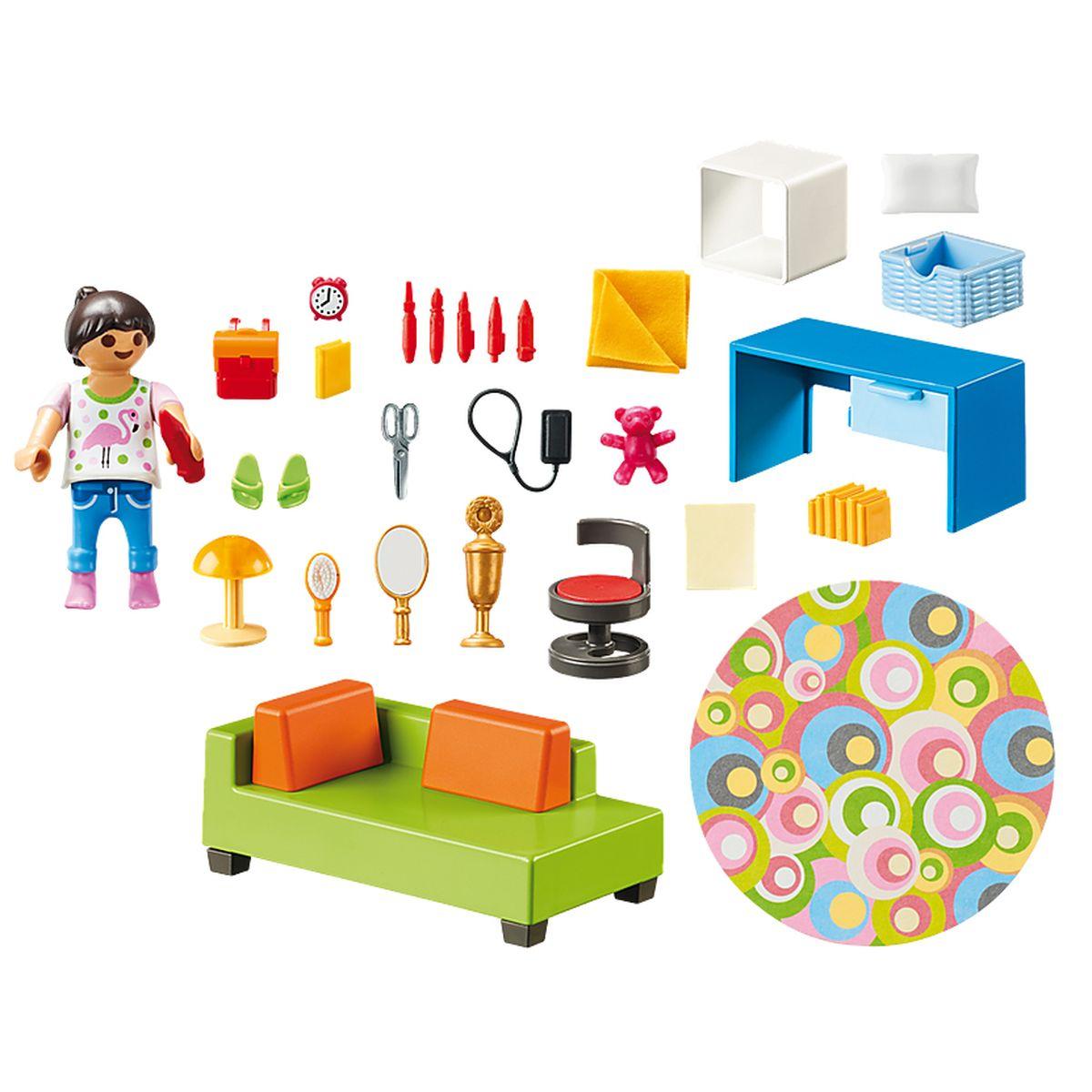 playmobil dollhouse chambre d enfant avec canape lit 70209