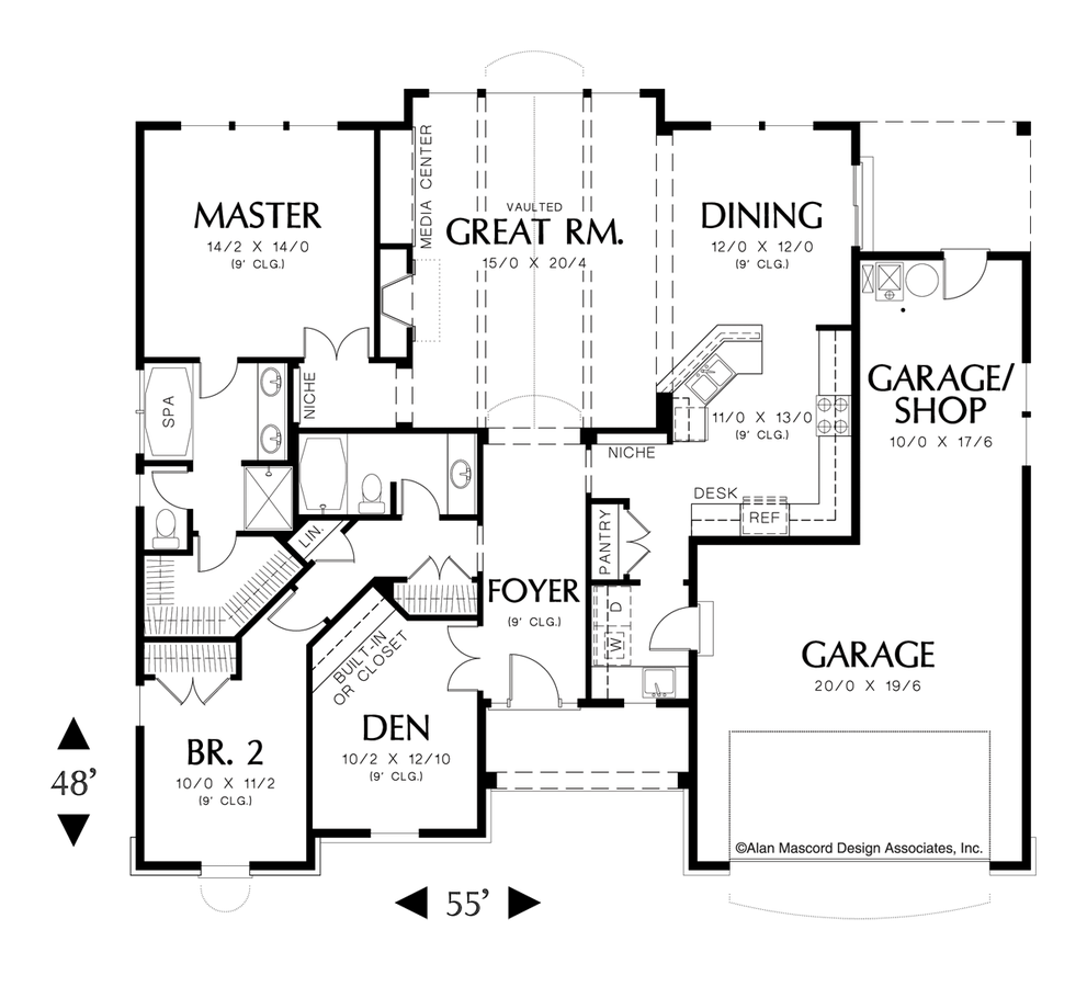 Cottage House Plan 1149 The Hayword: 1728 Sqft, 3 Beds, 2