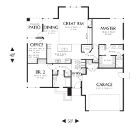 House Plan 1169ES -The Modern Ranch