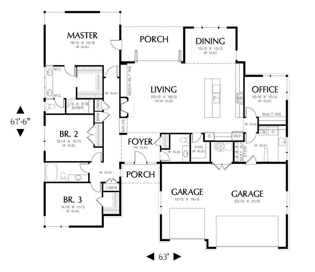Contemporary House Plan The Riverside Sqft 4