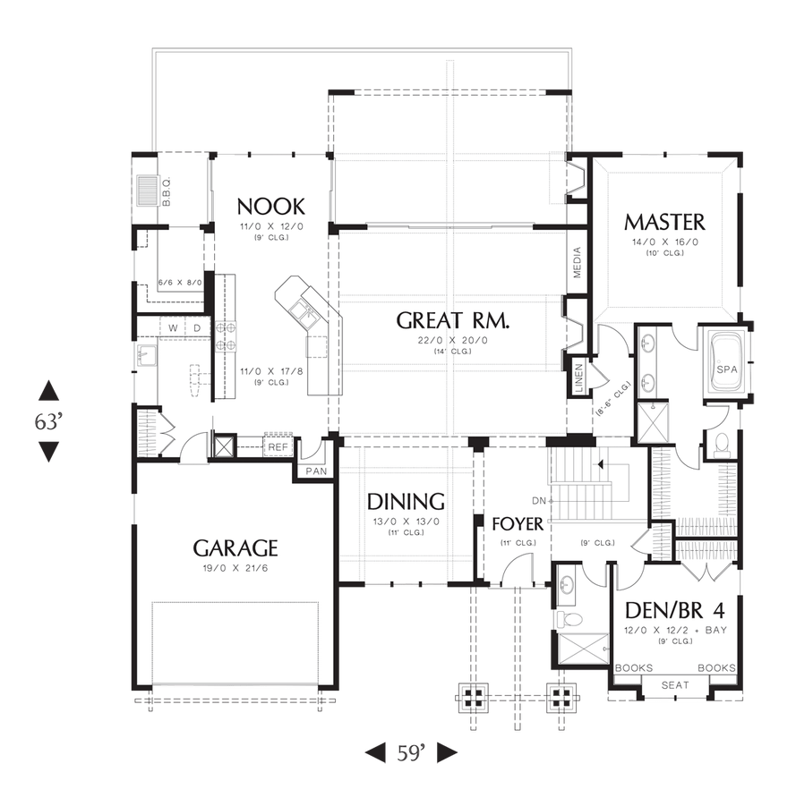 Craftsman House Plan 1329 The Sycamore: 3565 Sqft, 4 Beds