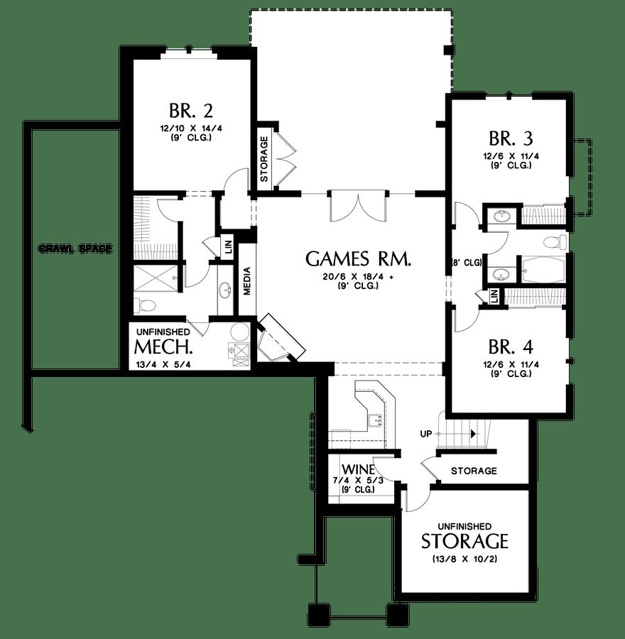 Craftsman House Plan 1337A The Beaverton: 3626 Sqft, 4