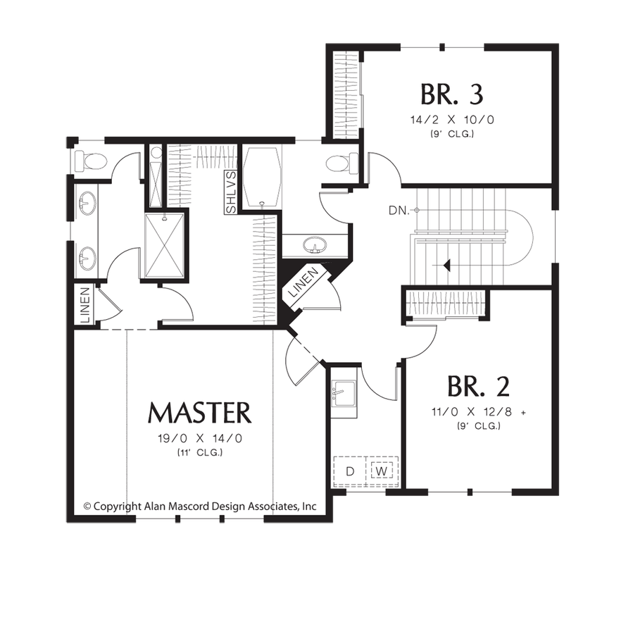 Craftsman House Plan 21138A The Woodhouse: 2043 Sqft, 3