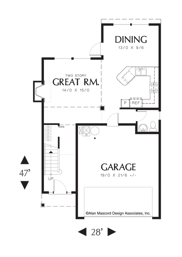 Traditional House Plan 2174 The Mandel: 1501 Sqft, 3 Beds