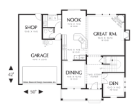 House Plan 22151 - The Calhoun | Floor Plan Details