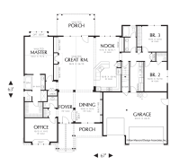 Cottage House Plan 22157 The Alton: 2591 Sqft, 3 Beds, 2.1