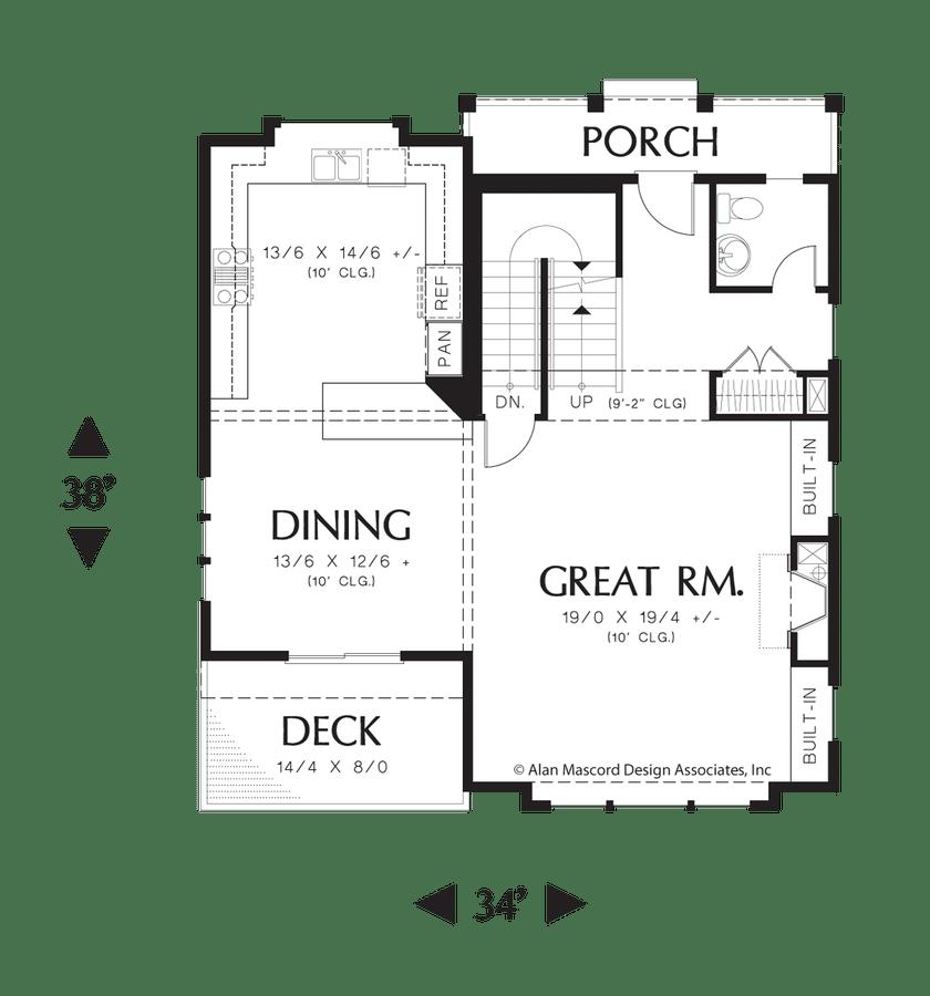 Craftsman House Plan 22187A The Newcastle: 2550 Sqft, 4