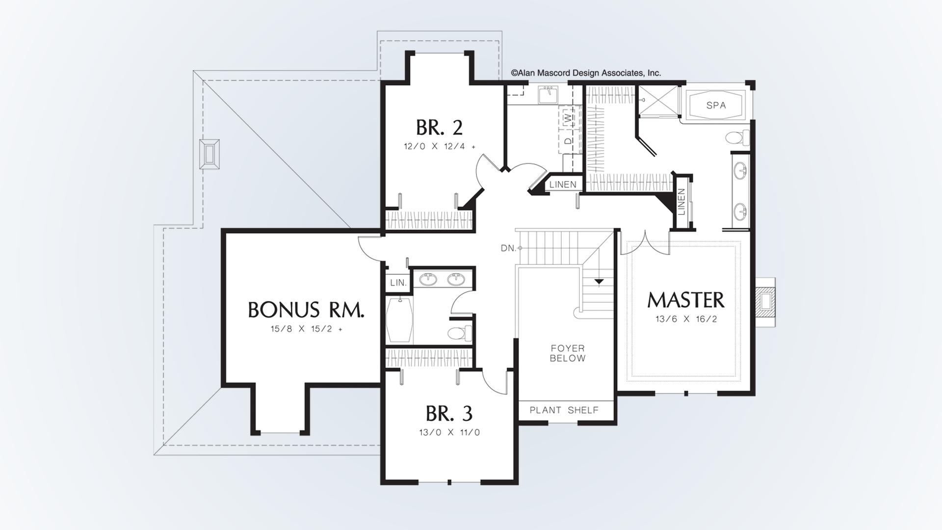 Georgian House Plan 2278 The Bienville: 2870 Sqft, 3 Beds