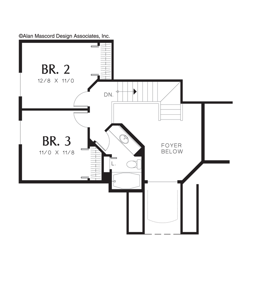 Traditional House Plan 2284 The Newberg: 2135 Sqft, 3 Beds