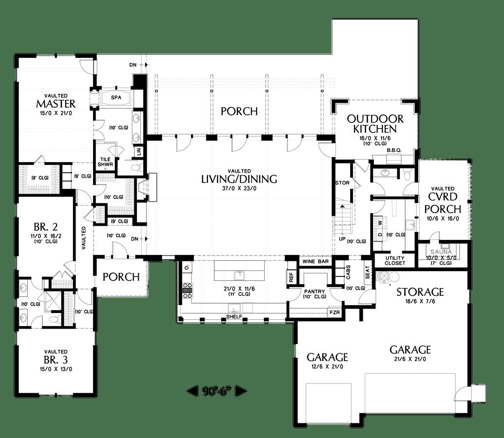 Contemporary House Plan 23102 The Tilikum: 3681 Sqft, 3