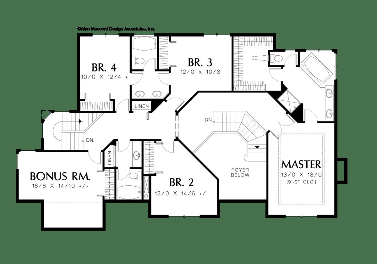 European House Plan A The Rosenfeld Sqft 4 Beds 3 1 Baths