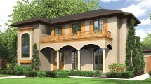 2 Story Spanish Style Home Plans