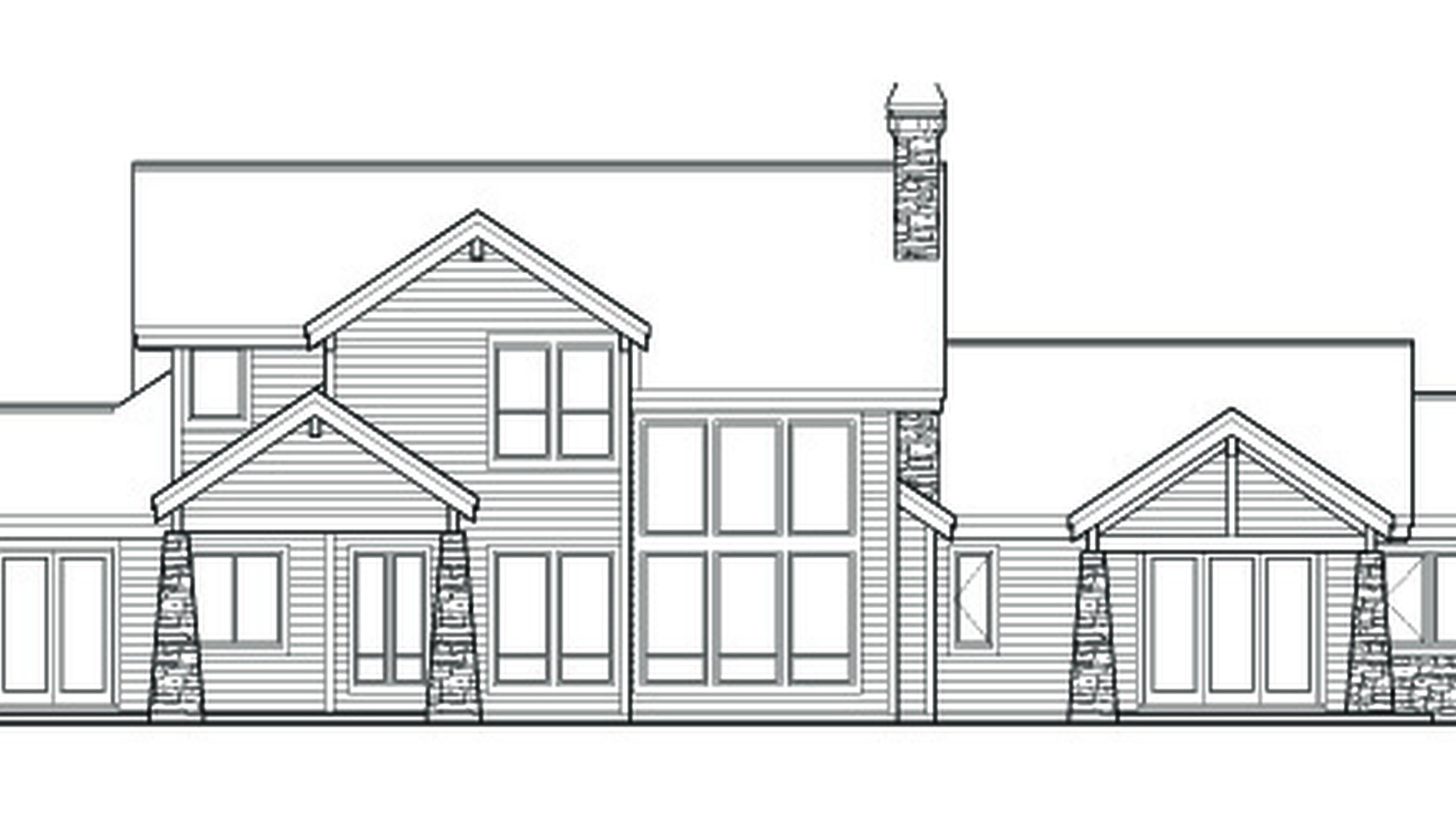Craftsman House Plan The Mountainview Sqft 3