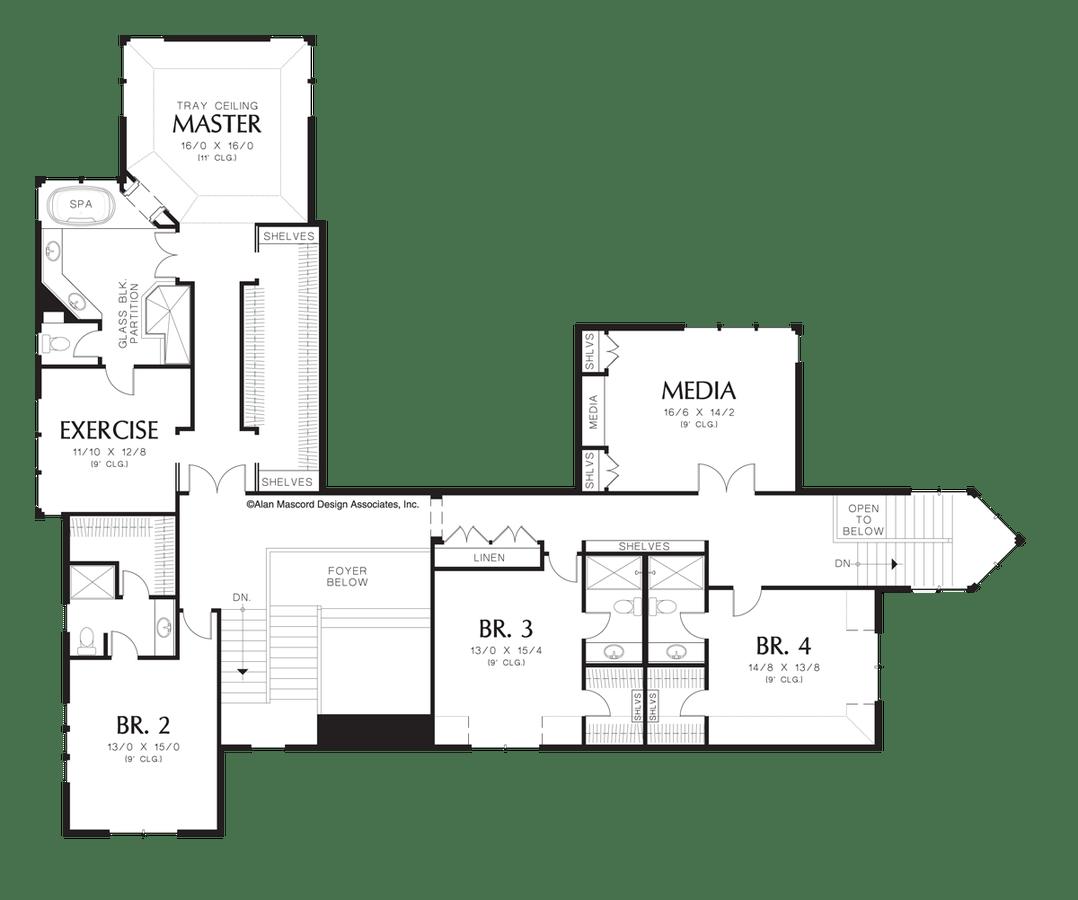 Shingle House Plan 2430 The Everton: 6391 Sqft, 5 Beds, 6