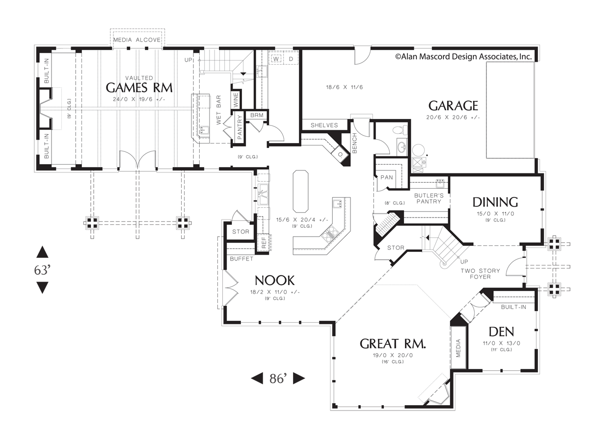 Craftsman House Plan 2436 The Ladner: 4490 Sqft, 4 Beds, 3