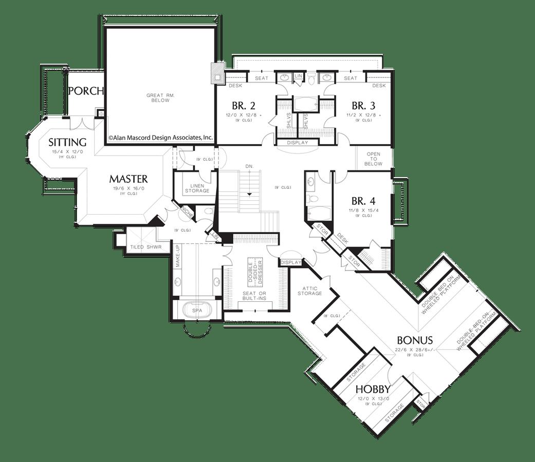 European House Plan 2449 The Hallsville: 6775 Sqft, 5 Beds