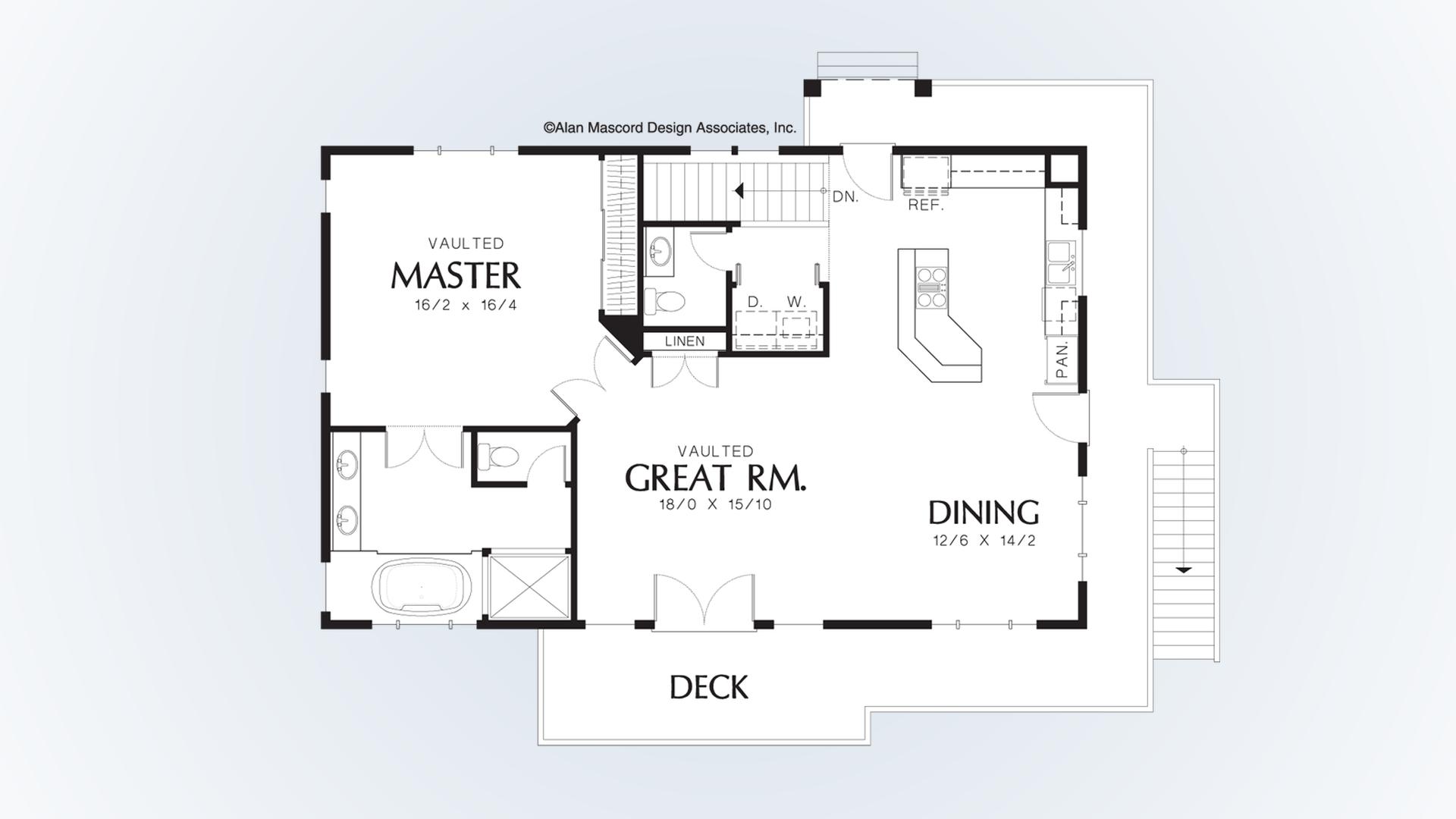 Carriage House House Plan 5016A The Barnesville: 1334 Sqft