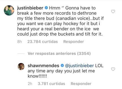 Após Shawn Mendes ser chamado de 'Príncipe do Pop' por publicação, Justin Bieber desafia cantor