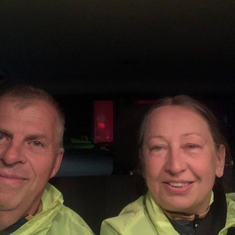 Håkan och Carina i brytbuss 44 på Vätternrundan