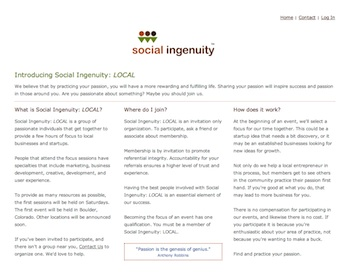 Social Ingenuity Passion in Practice