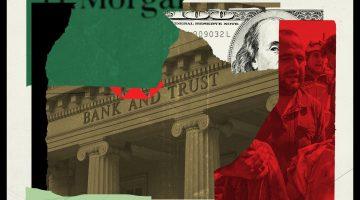 illustration with banks logo