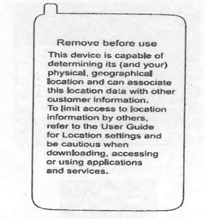 Verizon Placing Location Tracking Warning Labels on All Phones