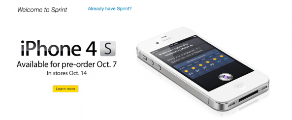 Sprint Now Taking iPhone 4 Pre-Orders, 4S on Friday
