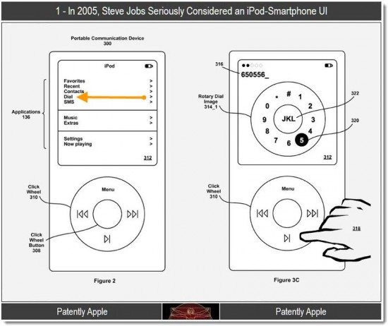 Patent Reveals Apple's Work on an iPod Phone