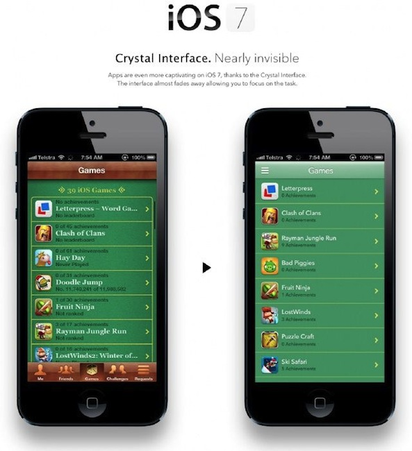 New Game Center concept looks sharp without the textures