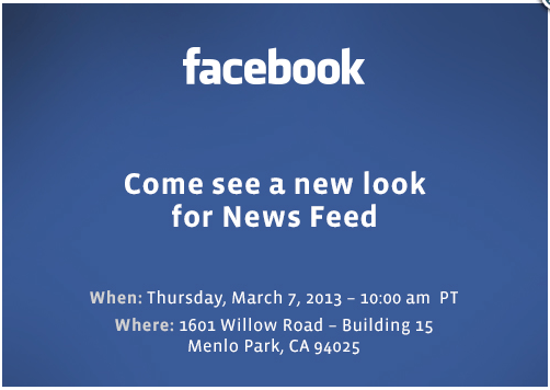 Facebook presser (20130307, invitation)