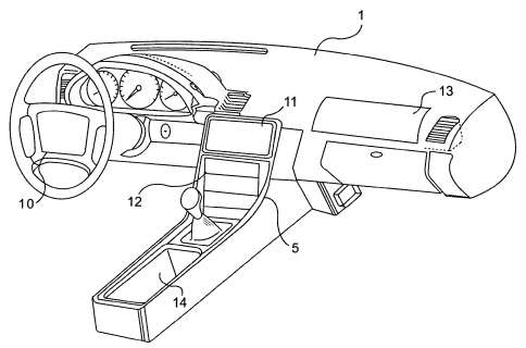 Interesting Apple steering wheel remote patent surfaces