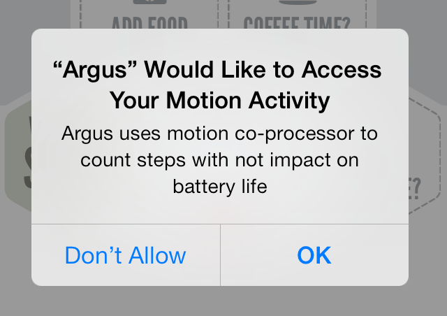 Argus Motion Activity access