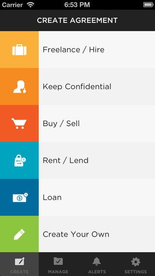 Shake App makes your agreements binding