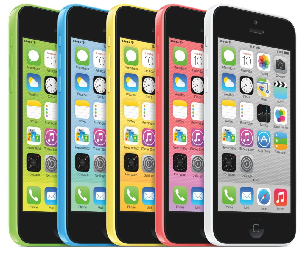 iPhone 5c (family, gree, blue, yellow, red, white)