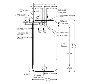 Apple posts official iPhone 5s/5c schematics