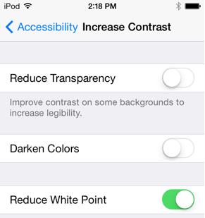 Obniż punkt biały w iOS 7.1 beta 3