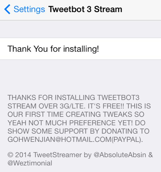 Tweetbot preferencias 3 Stream Reducido