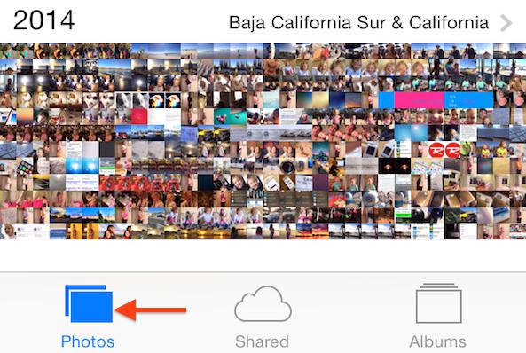 Photos tab