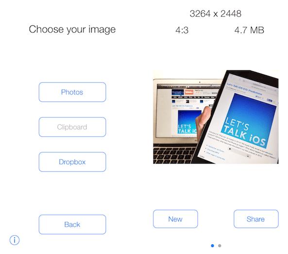 Resize photos on iPhone