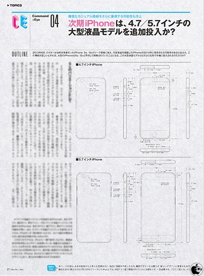 Sketchy schematic drawing of next-gen iPhones surfaces