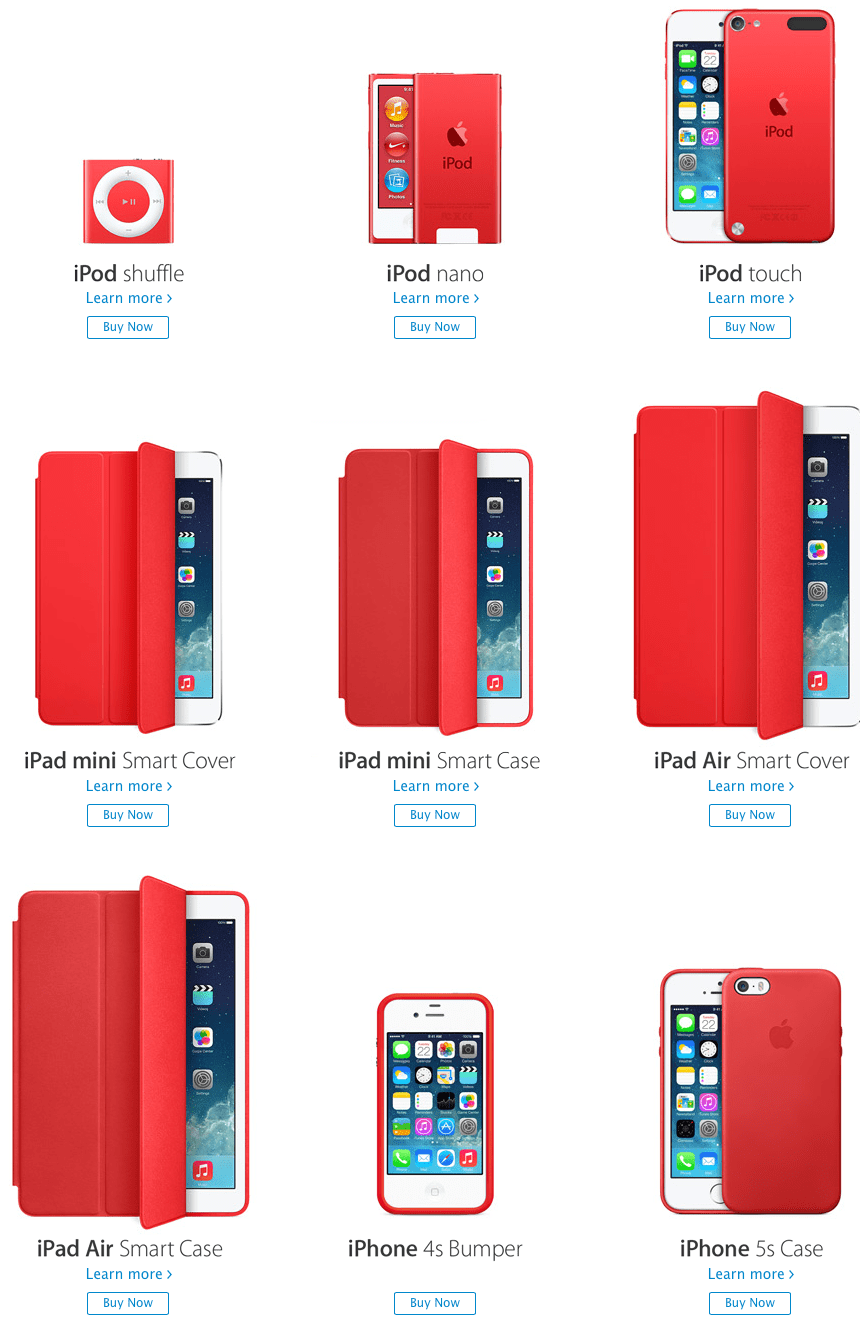 Apples PRODUCT RED contributions top 70 million
