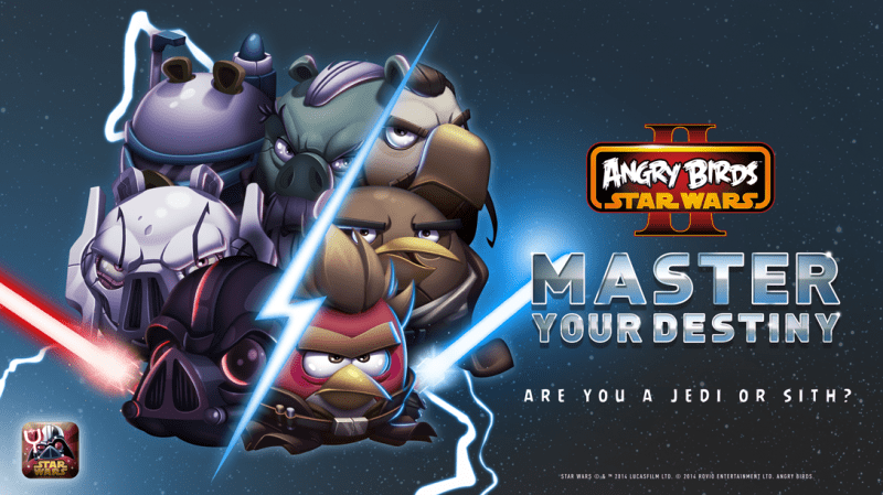 Angry Birds Star Wars Ii Goes Free Adds 30 New Master Your Destiny Levels