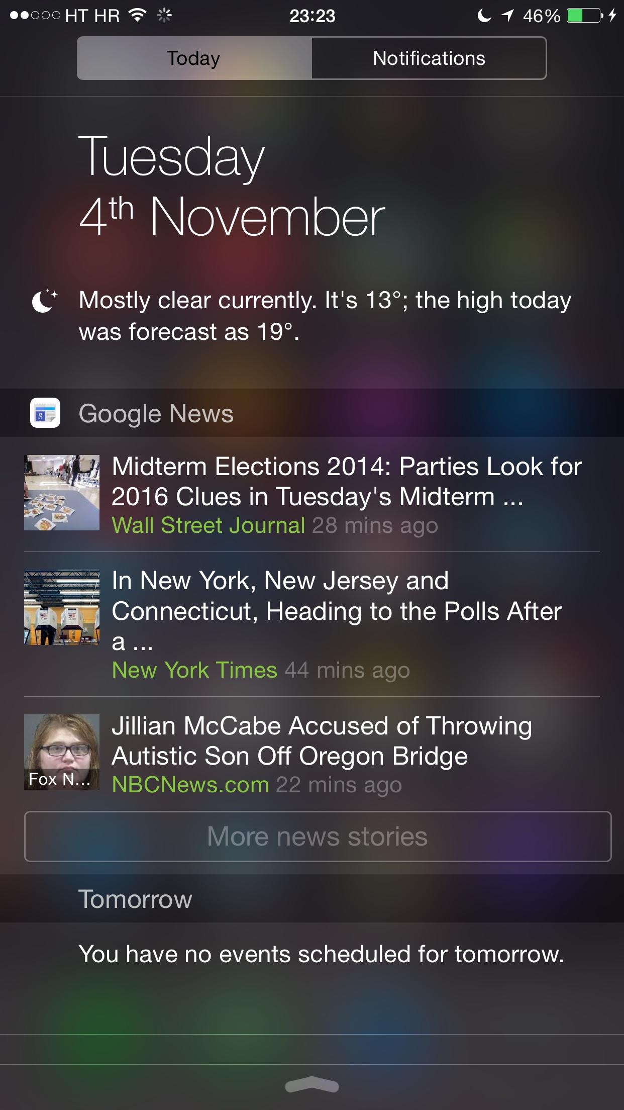 Google News  Weather gets iOS 8 Today widget