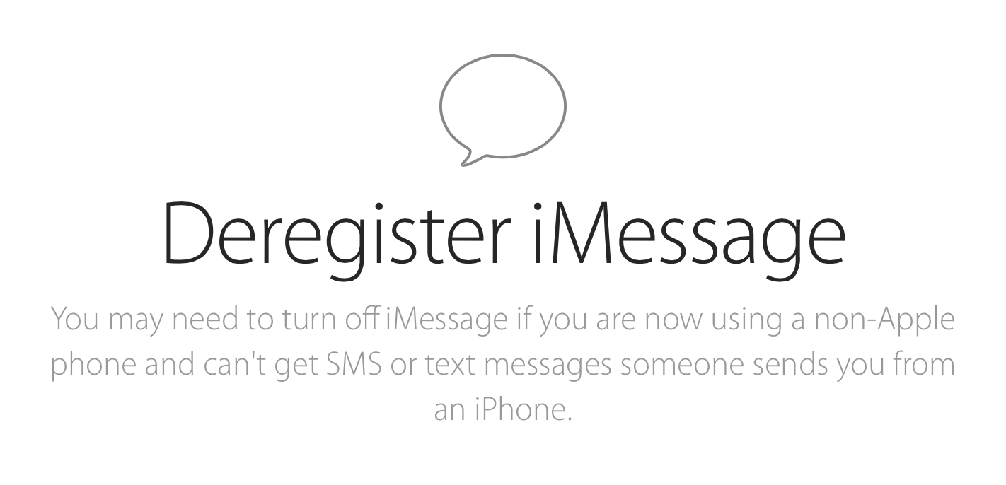 How to deregister your phone number from iMessage
