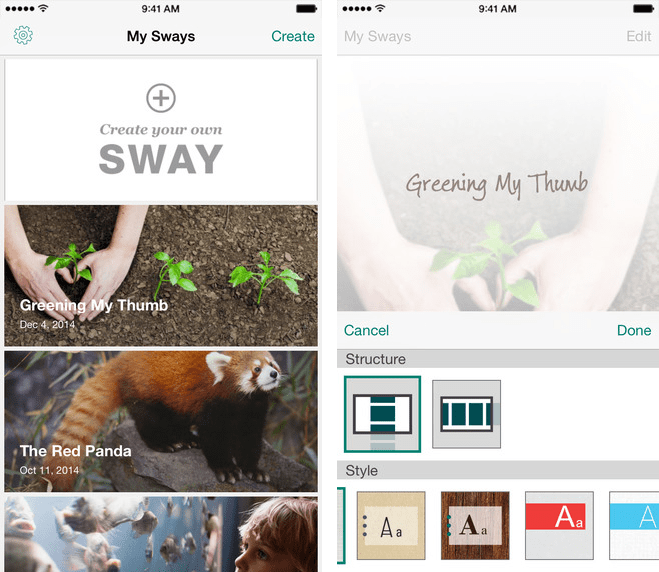 Iphone Built In Wallpapers Microsoft S Office Sway For Iphone Now Available In Us App