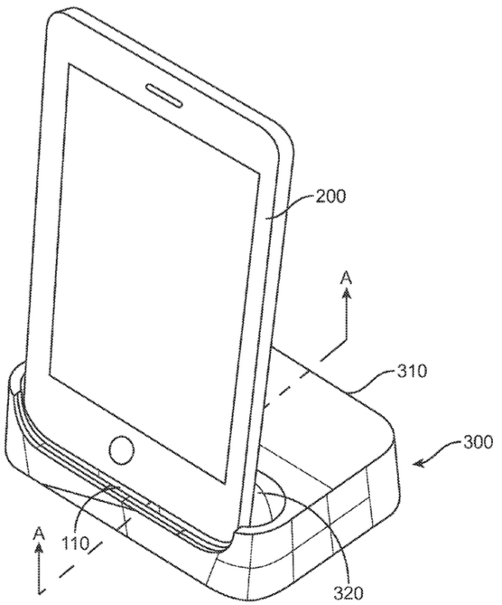 Apple granted patent for iOS docking station with flexible