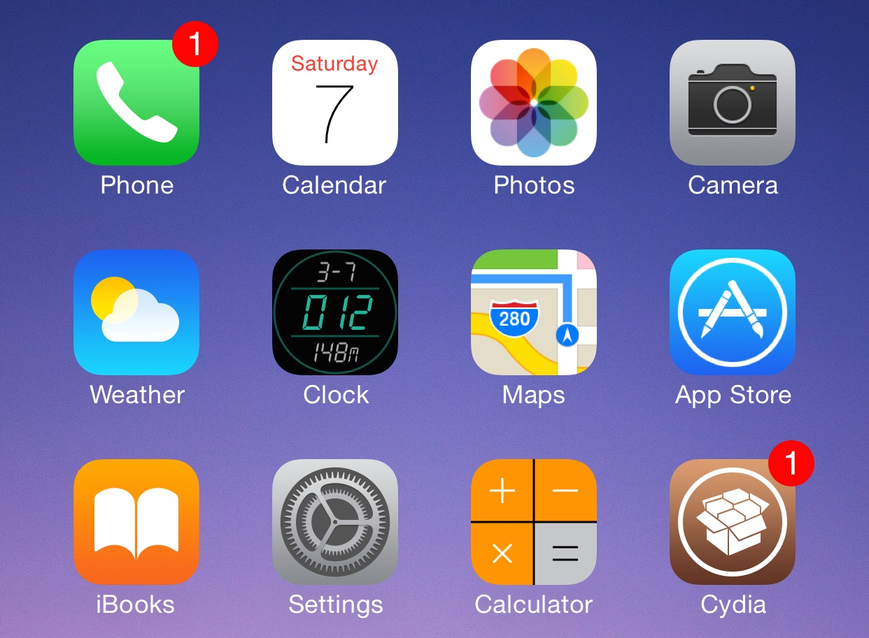 How to replace the stock Clock app icon with a digital clock icon