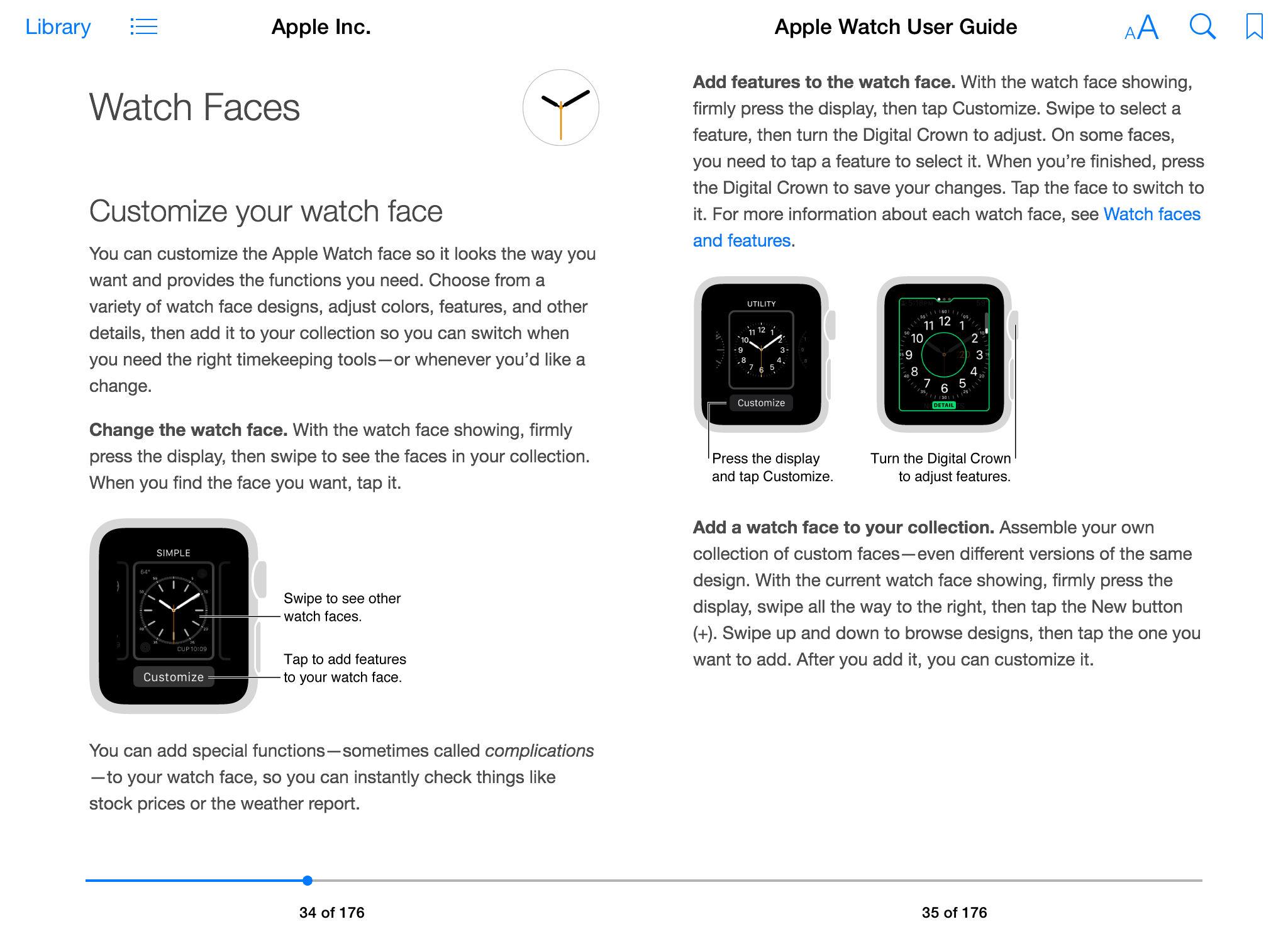 Apple Seguir Guía del usuario iBook pantalla 002
