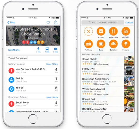 iOS 9 Apple Maps Nearby teaser 001