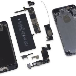Iphone 4 Screw Layout Diagram 2005 Ford Taurus Wiring 6s Plus Teardown Reveals A 165 Mah Battery Downgrade Versus Last Year's 6